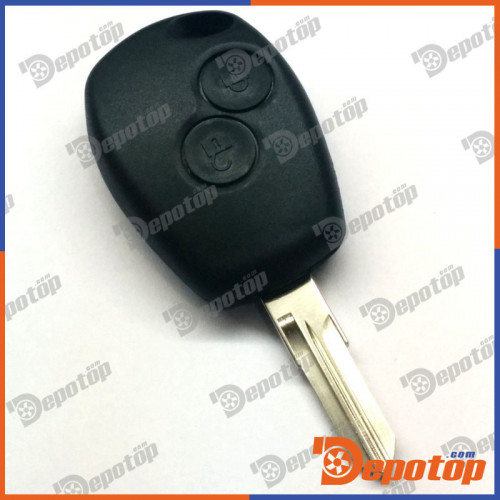c 42 coque de cl t l commande pour 2 boutons renault clio kangoo twingo remote key case no. Black Bedroom Furniture Sets. Home Design Ideas