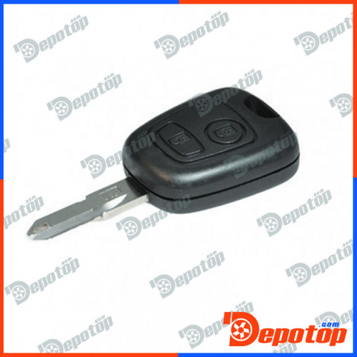 c 56 coque de cl t l commande pour peugeot 206 2 buttons remote key shell no logo pi ces. Black Bedroom Furniture Sets. Home Design Ideas